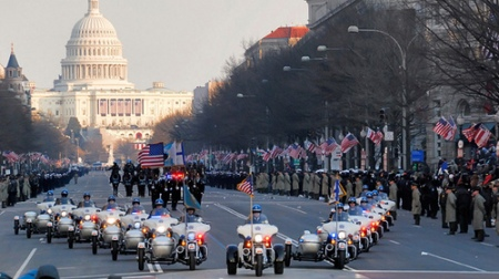 Harley-Davidson leads the way at President Barack Obama's inauguration parade with new Tri Glide Ultra Classic