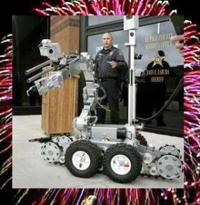 New bomb disposal robot bought for the DuPage County Sheriff's Hazardous Devices Unit. Source: Daily Herald.