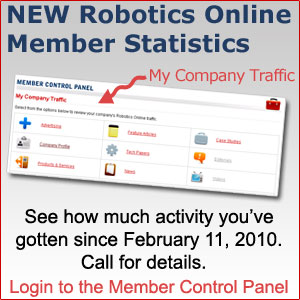 Robotics Online statistics for members; dashboard monitors traffic on www.robotics.org