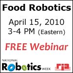 Food Robots Webinar by RIA during National Robotics Week