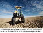 Stereo camera on mobile robot from University of Toronto