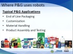 Where Procter & Gamble uses robots